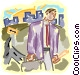 businessman making his rounds Vector Clip Art image
