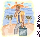 man with cellular phone and Vector Clip Art picture