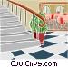 circular staircase Vector Clip Art graphic