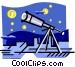 Telescope Vector Clip Art image