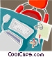 Office equipment Vector Clipart illustration