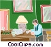 man at a bar Vector Clipart graphic