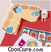 sofa and living room Vector Clipart graphic