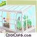 sunroom with plants Vector Clipart picture