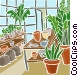 greenhouse plants Vector Clipart graphic