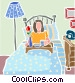 Breakfast in bed Vector Clipart picture