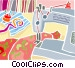 sewing machine Vector Clipart image