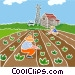 Farmers planting crops Vector Clip Art picture