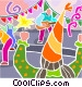 Big party with a band Vector Clip Art graphic