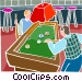 People playing pool Vector Clipart graphic