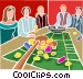 roulette game Vector Clip Art image
