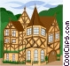 European building Vector Clipart graphic