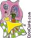 ballroom dancing Vector Clip Art image