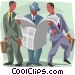 reading the morning paper Vector Clip Art picture