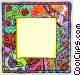 Floral border Vector Clip Art image