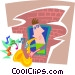 man playing a saxophone Vector Clip Art picture