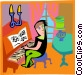 Figure playing the piano Vector Clipart image