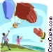 balloon hands shaking Vector Clipart picture