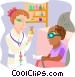 nurse administering medication Vector Clipart picture