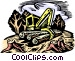Clear cut logging Vector Clip Art image