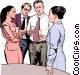 office party discussion Vector Clip Art graphic