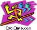 symbol of man jumping hurdles Vector Clipart illustration