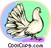 White dove Vector Clip Art picture