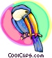 Toucan on a branch Vector Clipart picture