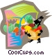 Figure purchasing produce Vector Clip Art picture