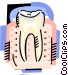 The tooth Vector Clipart image