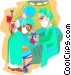 doctors in surgery Vector Clipart illustration