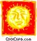 Scratch board sun Vector Clipart illustration