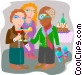employee being given a retirement party Vector Clipart image