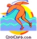 Figure skating Vector Clipart image