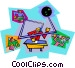 business computer network Vector Clipart illustration