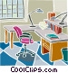 Office desk Vector Clip Art picture