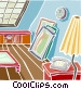 attic storage Vector Clip Art picture
