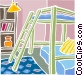 bunk beds Vector Clip Art picture