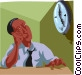 watching the clock Vector Clipart picture