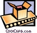 package on a conveyor belt Vector Clip Art picture