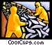 Harvesting the fisheries Vector Clipart graphic
