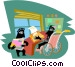 Office workers Vector Clipart picture