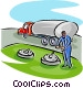 petroleum truck delivery Vector Clip Art graphic