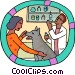 veterinarian with patient Vector Clipart picture