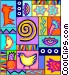 tapestry design Vector Clip Art picture