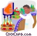 assembly line worker Vector Clip Art picture