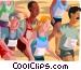 Marathon race, sports Vector Clip Art picture