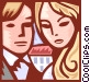 Man and woman Vector Clipart picture