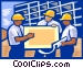 Men at construction site Vector Clipart graphic