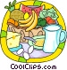 fresh fruits and dairy products Vector Clipart picture